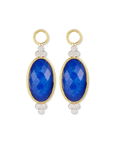 Provence Oval Lapis Charms for Earrings