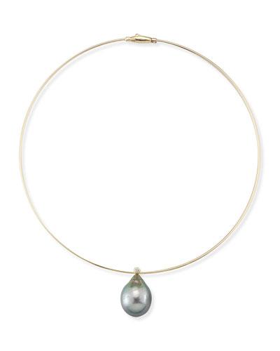 Tahitian Pearl & Diamond Collar Necklace