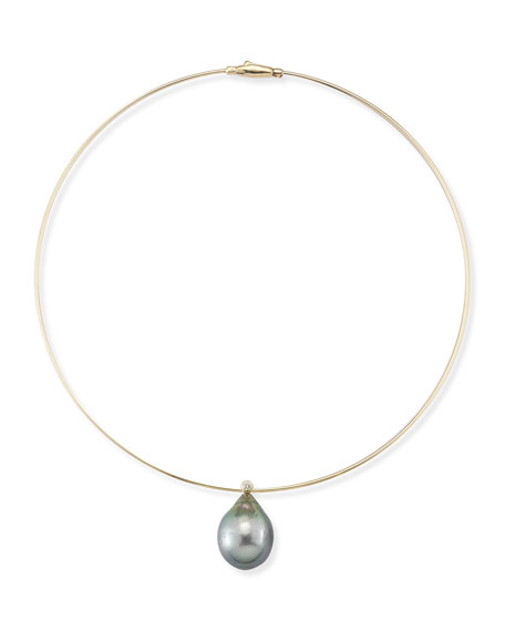 Pearl & Diamond Collar Necklace
