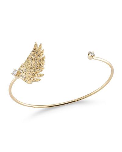Single Wing Diamond Cuff Bracelet