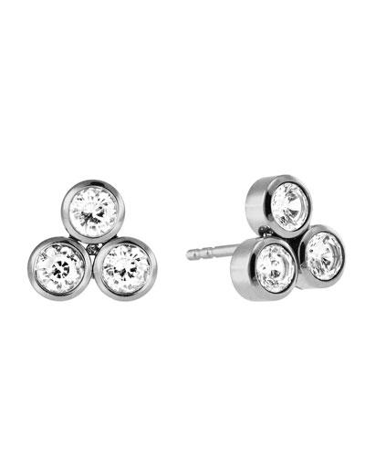 Park Avenue CZ Cluster Earrings