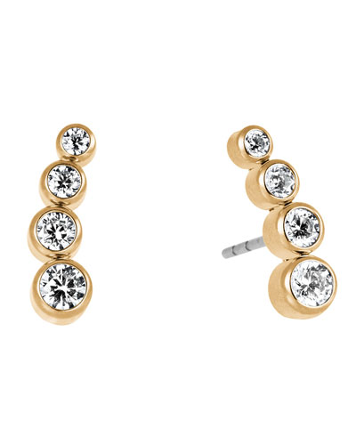 Park Avenue Tapered Crystal Earrings
