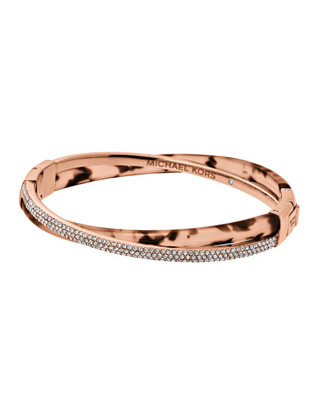 Michael Kors Pavé Crystal Crisscross Hinge Bangle