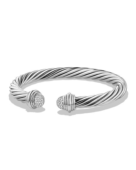David Yurman 7mm Pavé Diamond Dome Bracelet