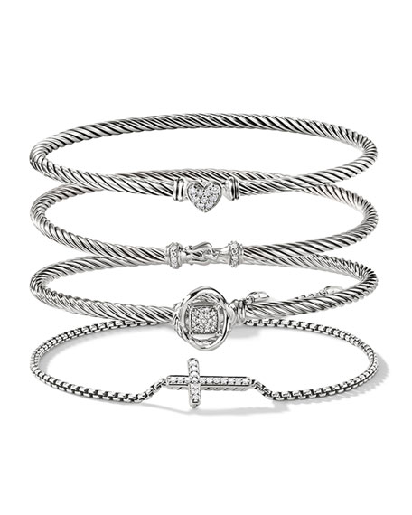 Image 4 of 4: David Yurman Petite Pave Diamond Cross Bracelet