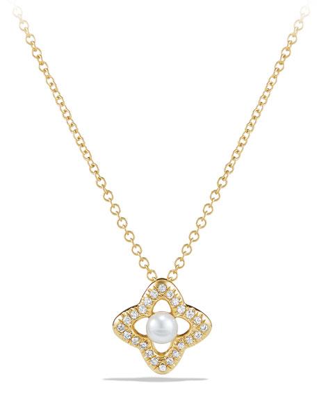 David Yurman 5mm Venetian Quatrefoil Pearl & Diamond