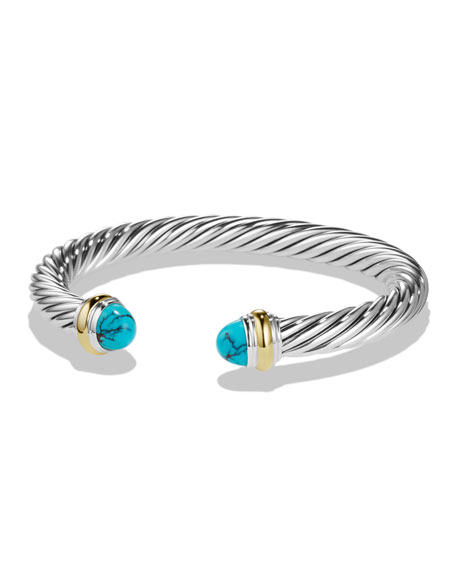 David Yurman Classic Cable Chinese Turquoise 7mm Bracelet