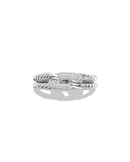 Petite Pavé Diamond Loop Ring