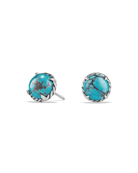 David YurmanChâtelaine Turquoise Cabochon Stud Earrings