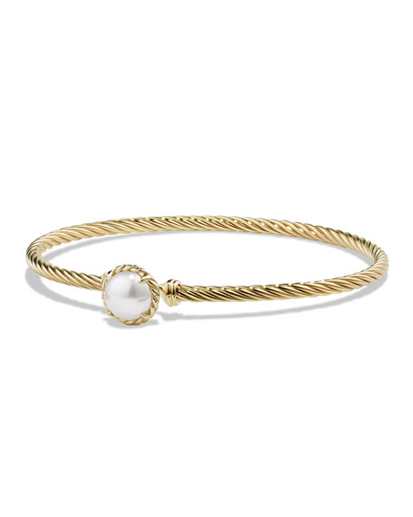 David Yurman Petite Chatelaine 8mm Pearl Bracelet