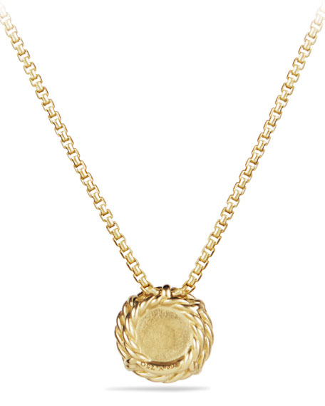 Chatelaine 7mm 18K Gold Pendant Necklace