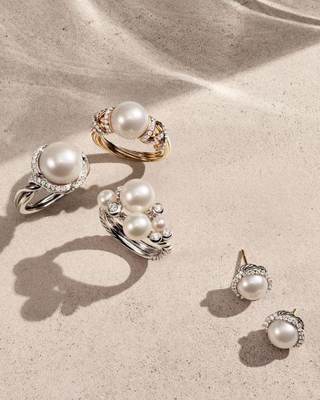David Yurman Cerise Pearl Earring with Diamonds