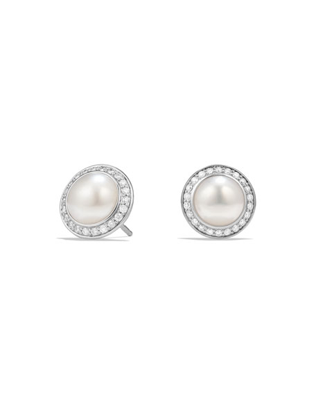 David Yurman 8mm Petite Cherise Pearl Stud Earrings