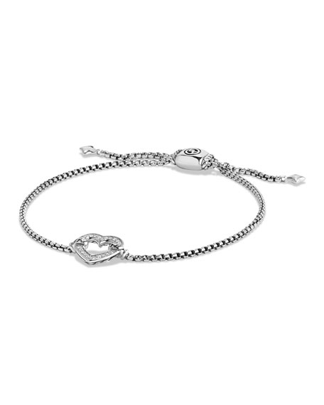 David Yurman Valentine Hearts Diamond Station Bracelet