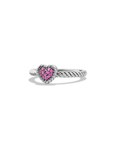 Hearts Chatelaine Pink Sapphire Ring