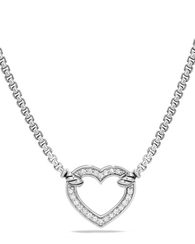 Valentine Hearts Diamond Station Necklace
