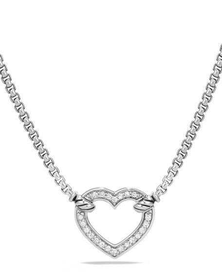 David Yurman Valentine Hearts Diamond Station Necklace
