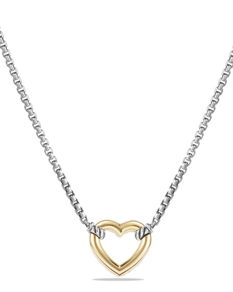 Reversible Heart Station Pendant Necklace
