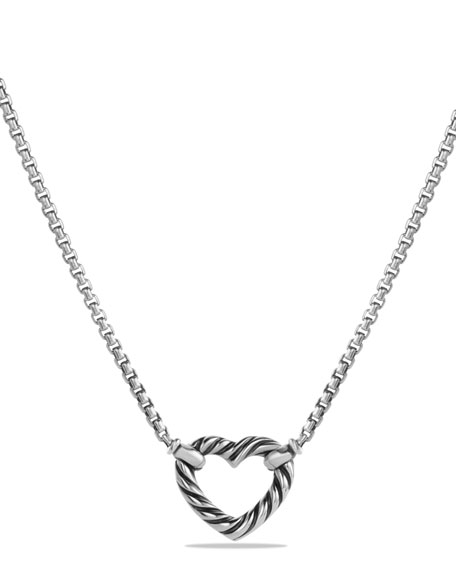 David Yurman Reversible Heart Station Pendant Necklace