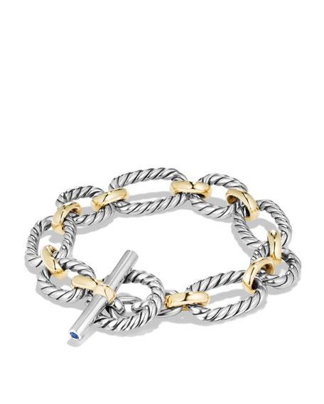 12.5mm Cushion Link Toggle Bracelet