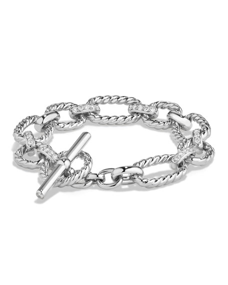 David Yurman 12.5mm Cushion Link Chain Bracelet with