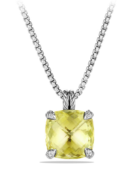 David Yurman 14mm Châtelaine Lemon Citrine Pendant Necklace
