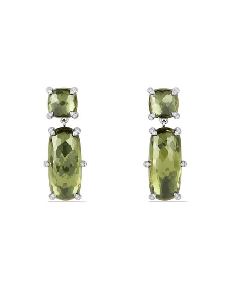 David Yurman Châtelaine Faceted Green Orchid Drop Earrings