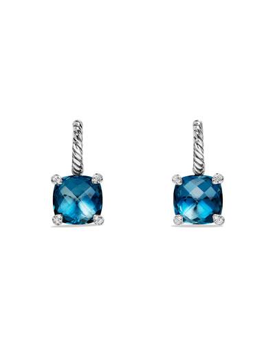 Châtelaine Hampton Blue Topaz & Diamond Earrings
