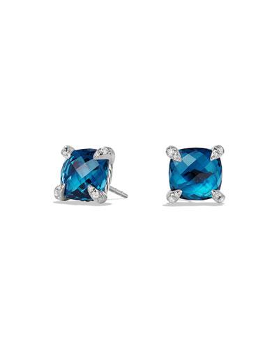 9mm Châtelaine Hampton Blue Topaz Stud Earrings