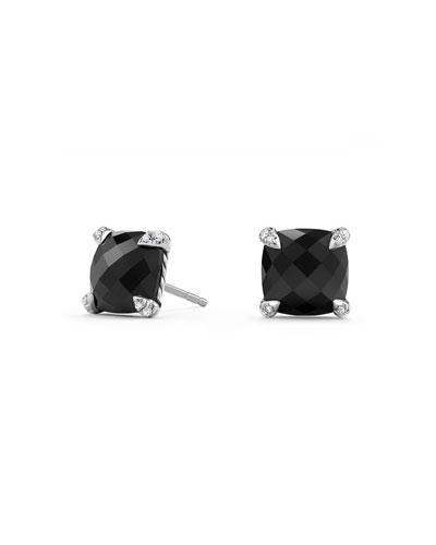 David Yurman 9mm Chatelaine Amethyst Stud Earrings