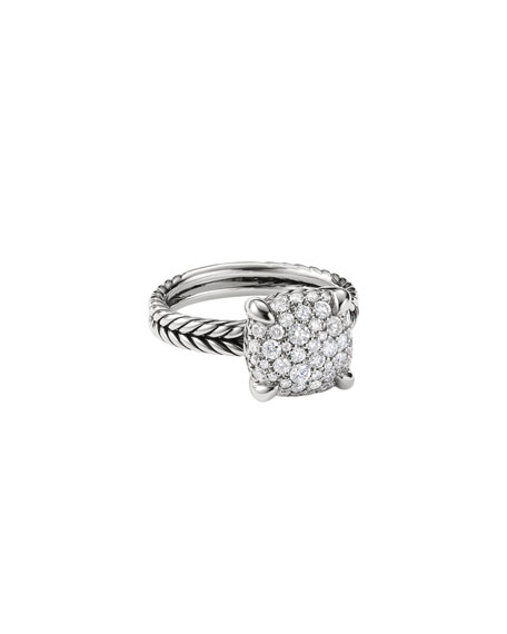 David Yurman 11mm Ch??telaine Diamond Mosaic Ring
