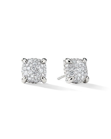 David Yurman 9mm Ch??telaine Diamond Mosaic Earrings