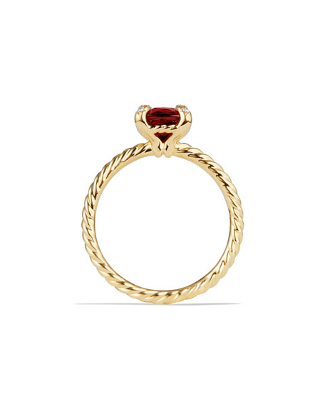 7mm Châtelaine 18K Gold Garnet Ring