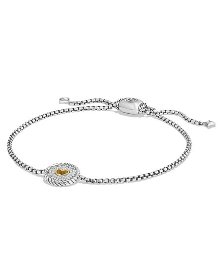 David Yurman Petite Pavé Diamond Heart Bracelet