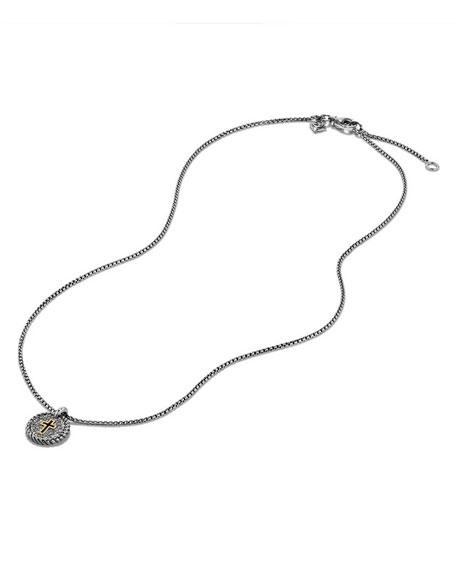 Petite Cable Pavé Diamond Cross Pendant Necklace