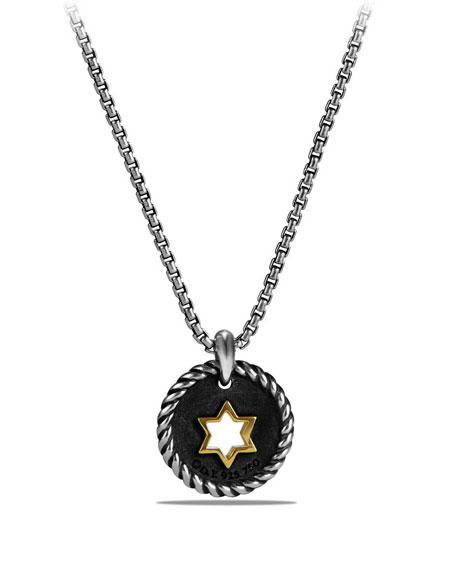 Petite Cable Pavé Diamond Star of David Pendant Necklace