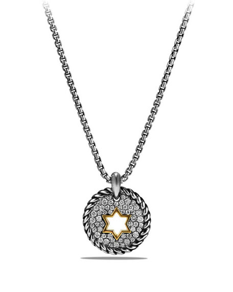 David Yurman Petite Cable Pavé Diamond Star of