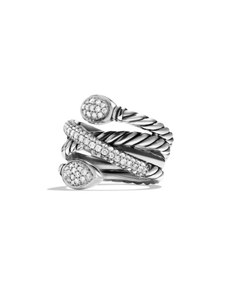 David Yurman Renaissance Pavé Diamond Coil Ring