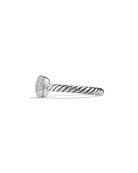 Pavé Diamond Cushion Stacking Ring