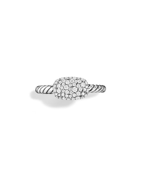 Petite East-West Pavé Diamond Stacking Ring