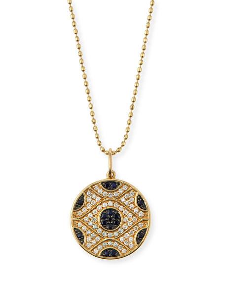 Sydney Evan Large Evil Eye Medallion Necklace