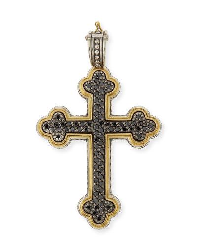 Pavé Black Diamond Cross Pendant