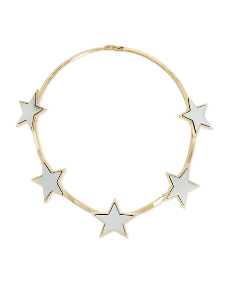 Givenchy Hinged Brass Star Collar Necklace