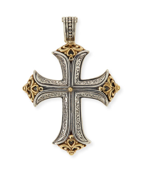 Konstantino Carved Maltese Cross Pendant