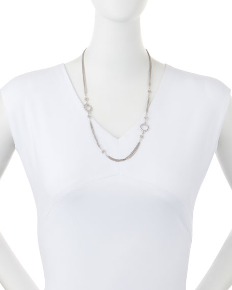 New World Three-Strand Scroll Necklace, 24""