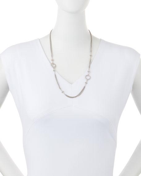 "New World Three-Strand Scroll Necklace, 24"""