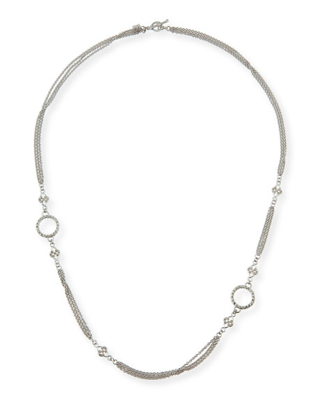 Armenta New World Three-Strand Scroll Necklace, 24