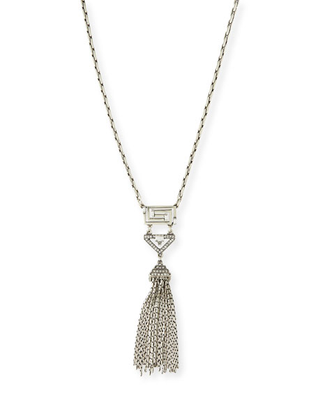 Lulu Frost Lucent Deco Crystal Tassel Necklace