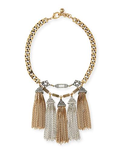 Metronome Antiqued Fringe Necklace