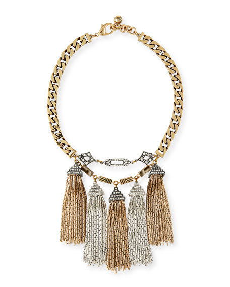Lulu Frost Metronome Antiqued Fringe Necklace